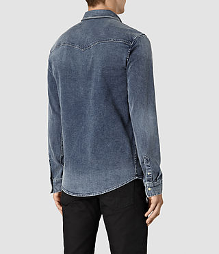 Hommes Lex Denim Shirt (Indigo Blue) - product_image_alt_text_4