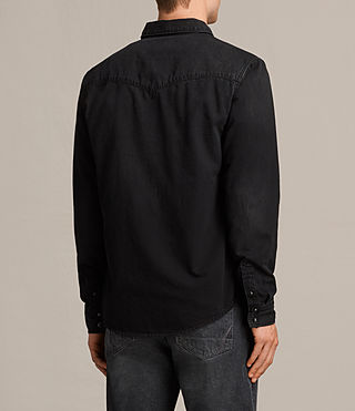 Men's Brunt Denim Shirt (Black) - Image 3
