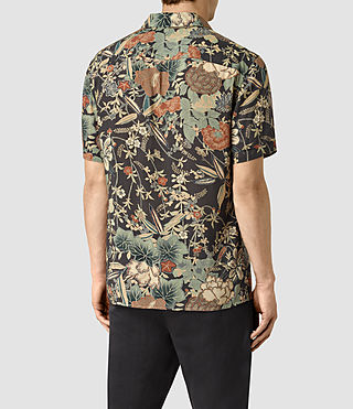 Mens Bouquet Short Sleeve Shirt (Graphite) - product_image_alt_text_4