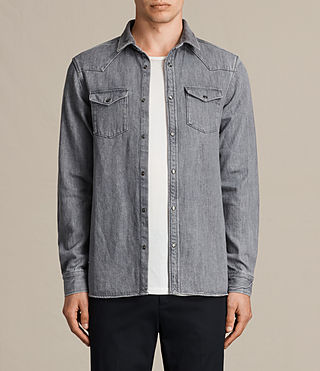 Men's Glazer Denim Shirt (Grey) -
