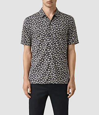 Hombres Salix Short Sleeve Shirt (Washed Black) -