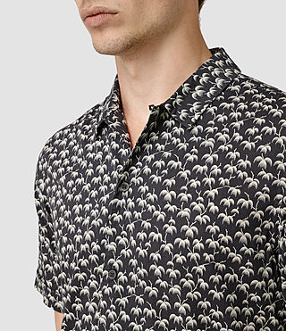 Mens Salix Short Sleeve Shirt (Washed Black) - product_image_alt_text_2