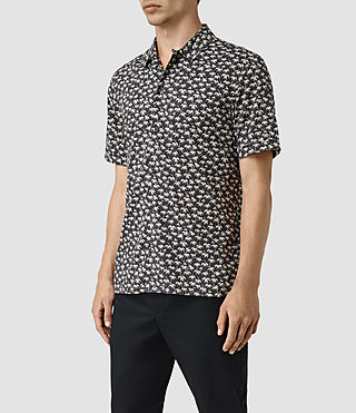 Hombres Salix Short Sleeve Shirt (Washed Black) - product_image_alt_text_3