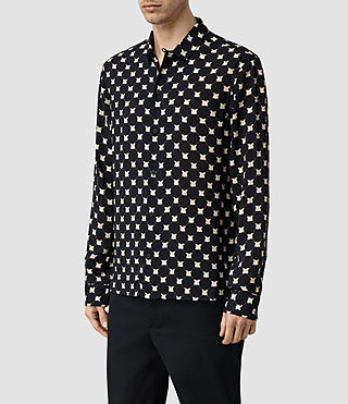 Hommes Inkblot Shirt (INK NAVY) - product_image_alt_text_3