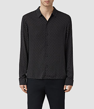 Mens Spadille Shirt (Washed Black)