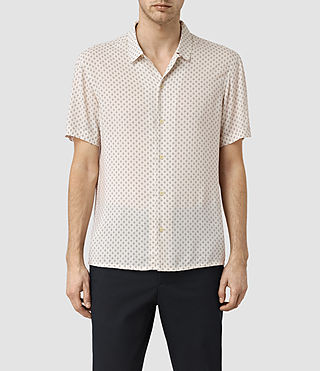 Herren Spadille Short Sleeve Shirt (ECRU WHITE) -