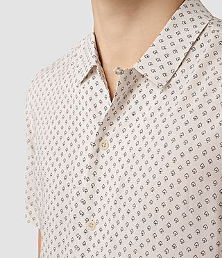 Herren Spadille Short Sleeve Shirt (ECRU WHITE) - product_image_alt_text_2