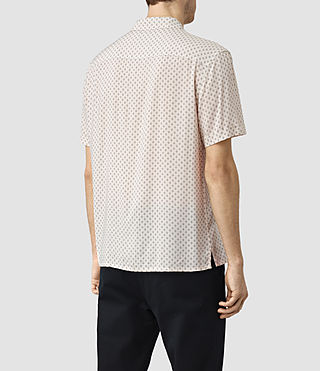 Herren Spadille Short Sleeve Shirt (ECRU WHITE) - product_image_alt_text_4