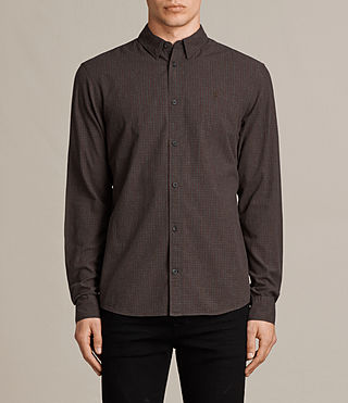 Mens Quarry Shirt (Oxblood/Charcoal) - product_image_alt_text_1