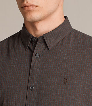 Mens Quarry Shirt (Oxblood/Charcoal) - product_image_alt_text_2