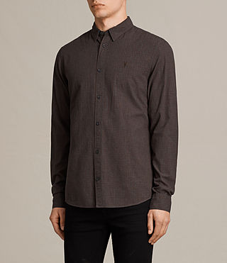 Mens Quarry Shirt (Oxblood/Charcoal) - product_image_alt_text_3