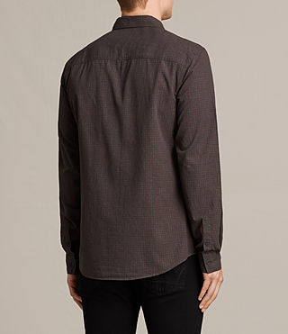 Mens Quarry Shirt (Oxblood/Charcoal) - product_image_alt_text_4