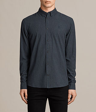 Mens Quarry Shirt (INK NAVY/CHARCOAL) - product_image_alt_text_1