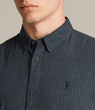 Mens Quarry Shirt (INK NAVY/CHARCOAL) - product_image_alt_text_2