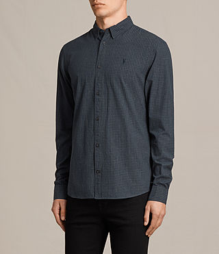 Mens Quarry Shirt (INK NAVY/CHARCOAL) - product_image_alt_text_3