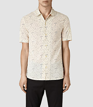 Hombres Axiom Short Sleeve Shirt (ECRU WHITE)