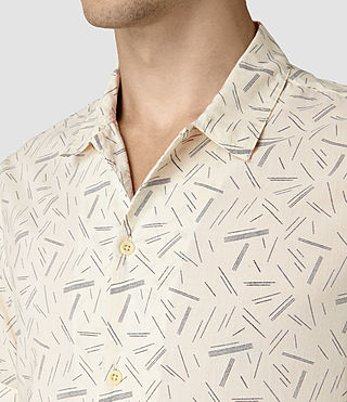 Hombres Axiom Short Sleeve Shirt (ECRU WHITE) - product_image_alt_text_2