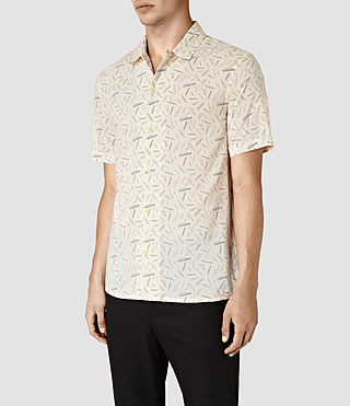 Hombres Axiom Short Sleeve Shirt (ECRU WHITE) - product_image_alt_text_3