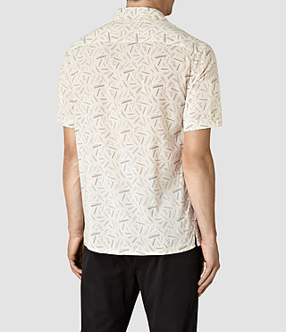Hombres Axiom Short Sleeve Shirt (ECRU WHITE) - product_image_alt_text_4