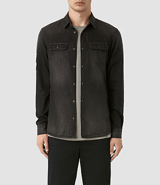Mens Floyd Denim Shirt (Jet Black)