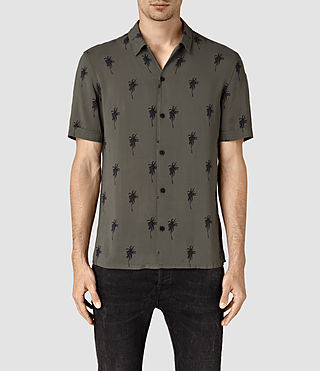 Mens Archo Short Sleeve Shirt (Khaki Green) - product_image_alt_text_1