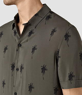 Hombre Archo Short Sleeve Shirt (Khaki Green) - product_image_alt_text_2