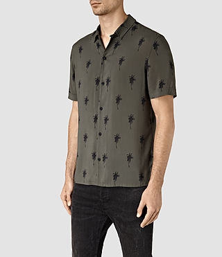 Hombre Archo Short Sleeve Shirt (Khaki Green) - product_image_alt_text_3