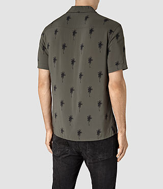Hombre Archo Short Sleeve Shirt (Khaki Green) - product_image_alt_text_4