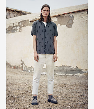 Hombre Archo Short Sleeve Shirt (Khaki Green) - product_image_alt_text_5