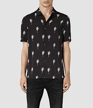Mens Archo Short Sleeve Shirt (Black) - product_image_alt_text_1