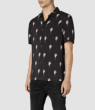 Hombre Archo Short Sleeve Shirt (Black) - product_image_alt_text_3