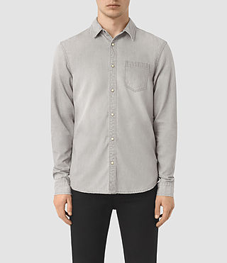 Hombres Kaiam Denim Shirt (Grey)