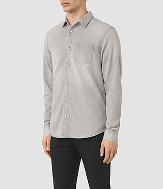 Hombres Camisa de denim Kaiam (Grey) - product_image_alt_text_2