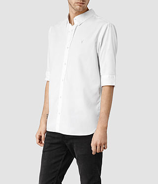 Mens Redondo Half Sleeved Shirt (White) - product_image_alt_text_2