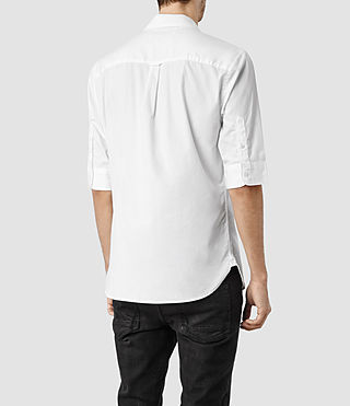 Mens Redondo Half Sleeved Shirt (White) - product_image_alt_text_3
