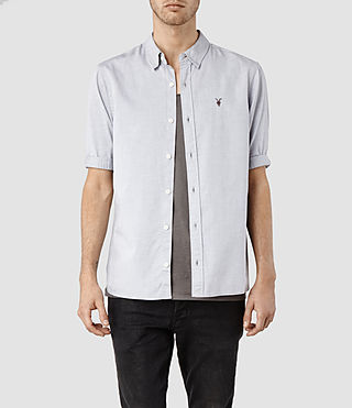 Mens Redondo Half Sleeved Shirt (Light Grey) - product_image_alt_text_1