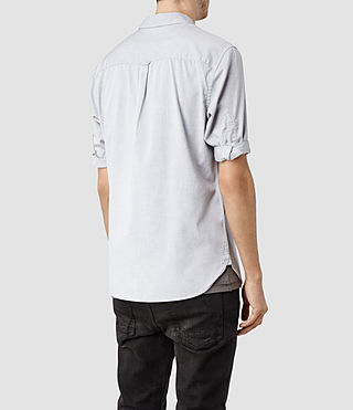Mens Redondo Half Sleeved Shirt (Light Grey) - product_image_alt_text_3