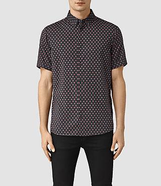 Men's Kapow Short Sleeve Shirt (Washed Black) -