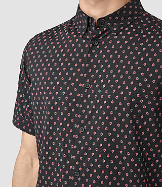 Men's Kapow Short Sleeve Shirt (Washed Black) - product_image_alt_text_2