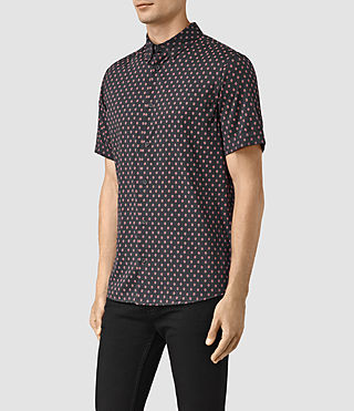 Men's Kapow Short Sleeve Shirt (Washed Black) - product_image_alt_text_3