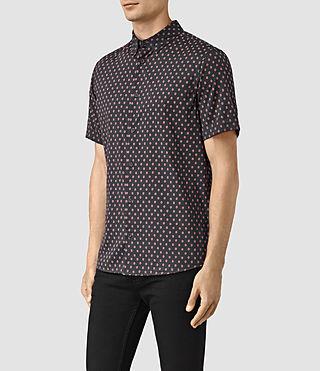 Men's Kapow Short Sleeve Shirt (Washed Black) - product_image_alt_text_3