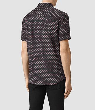 Men's Kapow Short Sleeve Shirt (Washed Black) - product_image_alt_text_4