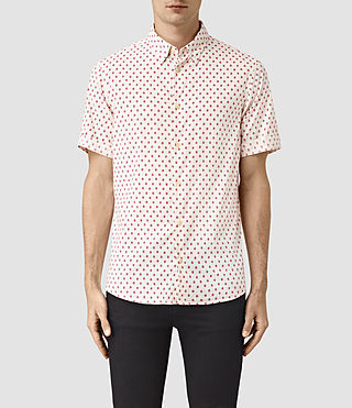 Herren Kapow Short Sleeve Shirt (ECRU WHITE)