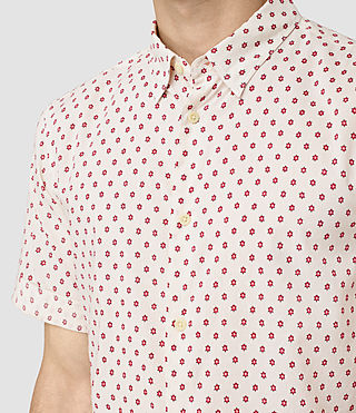 Men's Kapow Short Sleeve Shirt (ECRU WHITE) - product_image_alt_text_2