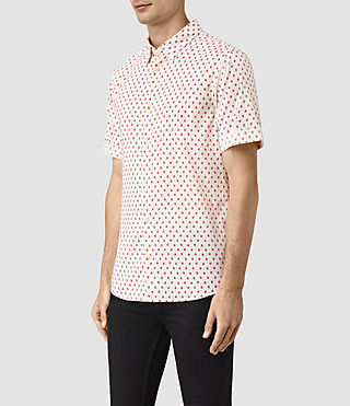 Men's Kapow Short Sleeve Shirt (ECRU WHITE) - product_image_alt_text_3