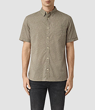Hombres Bulb Short Sleeve Shirt (BALSAM GREEN)