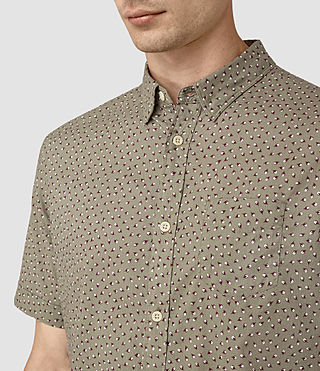 Men's Bulb Short Sleeve Shirt (BALSAM GREEN) - product_image_alt_text_2