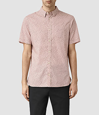 Mens Bulb Short Sleeve Shirt (Sphinx Pink)