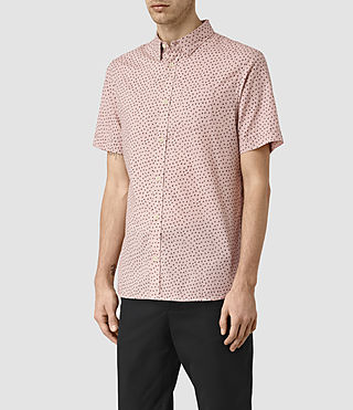Hombres Bulb Short Sleeve Shirt (Sphinx Pink) - product_image_alt_text_2