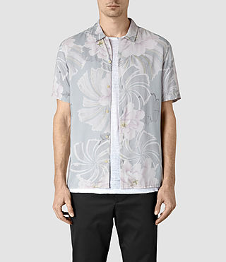 Mens Helix Short Sleeve Shirt (Lilac)